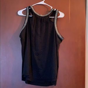 Maurice's black lacy tank top